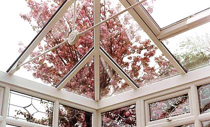 Conservatory glass roof